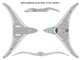 Silent night attack aircraft by bagera3005