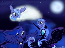 Faces of the Moon by treez123