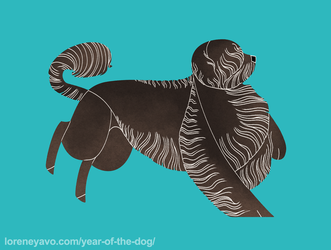 Year of the Dog - Portuguese Water Dog by Kelgrid