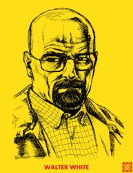 Walter White Portrait by SeedofSmiley