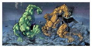 hulk vs the thing by LazaroComics