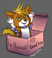 To Hyenolf by lizathehedgehog
