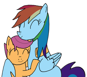 Rainbow Dash and Scootaloo by OmarZi