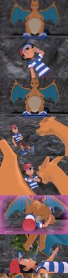 [MMD] (comic) Charizard finds a mate PART 2 by Jasalad