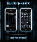 Blue Matrix for iPhone by shoowack