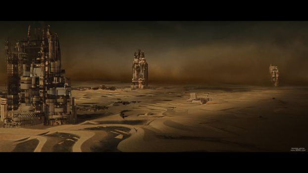 Mars Base Storm by max4ever