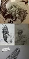 Howls of Silence [Sketches] by Farphyni