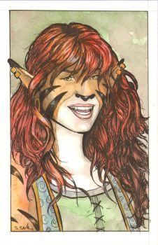 Felicity from Dreamland Chronicles Watercolor... by ssava