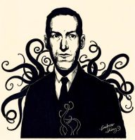 Lovecraft ink drawing by silentsketcher