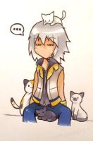 Chibi Riku - CATS!!! by lollypop071