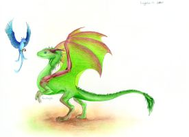 Baby nature dragon entry by Anutwyll