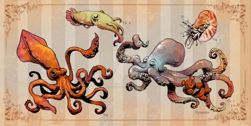 Cephalopods by BrianKesinger