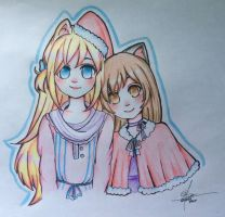 Niko and Nyah ( Requested by: MoonlightBlume ) by TheCutestChubbyBear