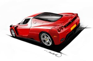Enzo Ferrari by darkdamage