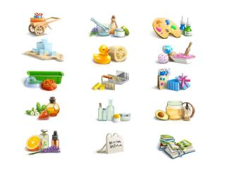 Icons for the creators of soap by Vlademareous