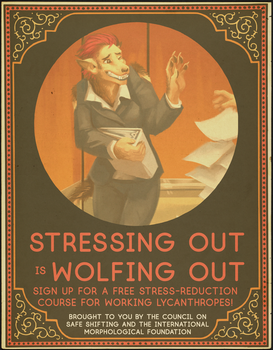 Stressing Out Is Wolfing Out! by nothere3