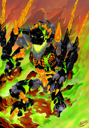 Bionicle 2016 Revamp Comics - Beast of Lava by Tomycase