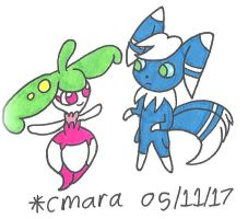Steenee and Meowstic