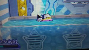 Meta knight on a floaty  by cutelittlepikakitty
