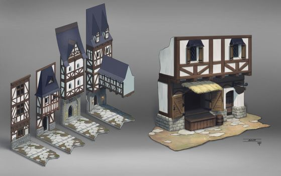 7 Mages - Town concepts by hunterkiller