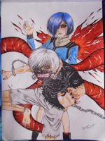 Tokyo Ghoul fanart by Superscarykitty45