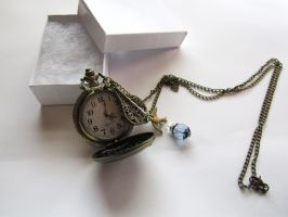 Dragon Working Brass Pocket Watch Necklace by MammaShaClothing