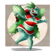 [Christmas Artwork] Jolie, The Ivysaur. by Wouhlven