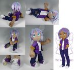 James - Custom Jointed Plush Doll by WhittyKitty