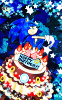 Sonic 24 Birthday by KonKonna