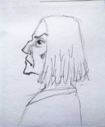 Old sketch 3 - Snape by a-nyul