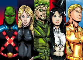Justice League Group 2 by cpuhuman