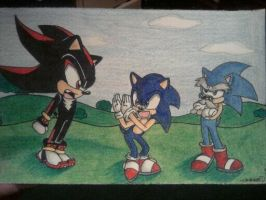 Sonic DBZ Funny by android17lover