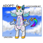 (OPEN) Luckcharm Adopt - #37 UNICORN by Nuperjo