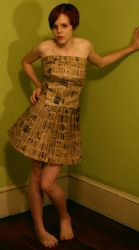 paper bag dress 6 by AttempteStock