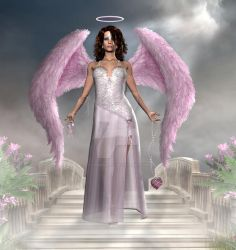 Pink Angel of Hope by CaperGirl42
