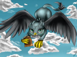 Gabby Mailgryphon by CometFire1990