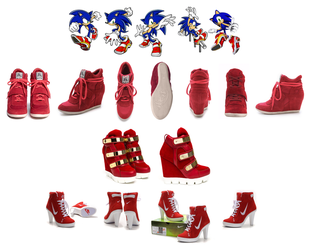 Sonic Soap Shoes compared to High Heel Sneakers by DeverexDrawer