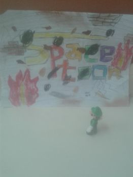 This is for my brother Mario you Space Losers! by Wael-sa