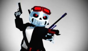 (MMD)  new Gangster sans DL by ERROR404SANS