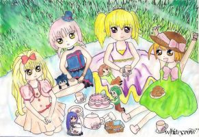 Tea party when they were small by whitecrow7