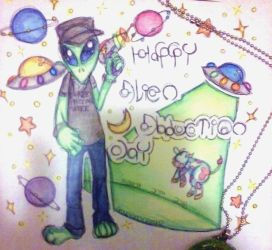 Happy Alien Abductions Day by graveyardcritter