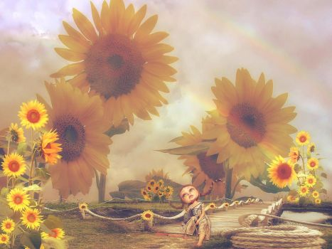 the Land of Sunflowers by poisen2014