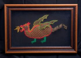 Lace Norwich Dragon by averil-hylton