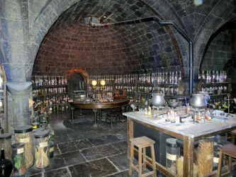 potions class room  hogwarts school by Sceptre63