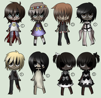 Creepypasta /Horror oc Adoptables (CLOSED) by King-of-Creeps
