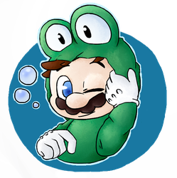 Frog Mario by ChibChoo