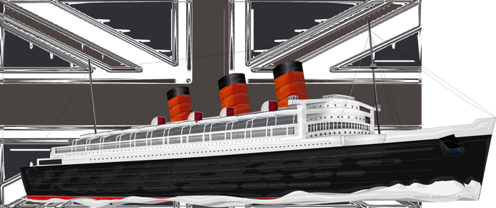 RMS Queen Mary by EsqapeVelocity