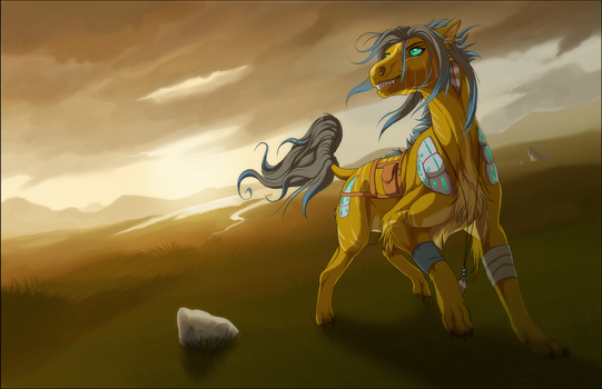 Songs of the wind- commission by Grypwolf