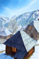 Winter Village by Meljona