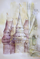 castle / aquarelle pracitice by skyna